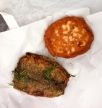 Fried Baltic herring & a salmon cake