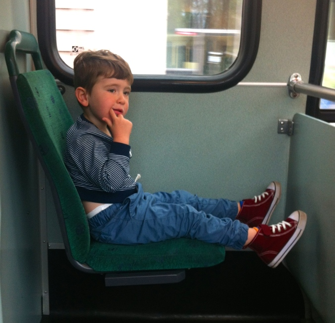 Save money - find a small child to travel with