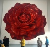 A giant rose made from soft jube sweets